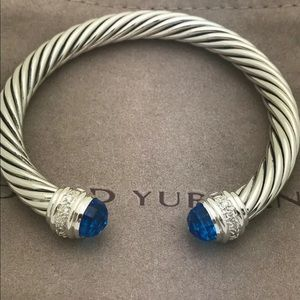 DAVID YURMAN BLUE TOPAZ DIAMOND PRINCESS SERIES 7m